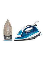 Sonashi Steam Iron, with Ceramic Soleplate, 2400W, SI 5075C, Blue/White
