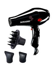 Sonashi Hair Dryer, 2000W, with Diffusser, SHD 3013, Black