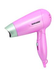 Sonashi Travel Hair Dryer, 1000-1200W, SHD 5001, Pink
