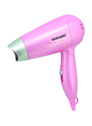 Sonashi Travel Hair Dryer, 1000-1200W, SHD 5001, Pink