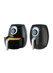 Sonashi 3.2L Manual Stainless Steel Air Fryer, 1300W, SAF 002, Black