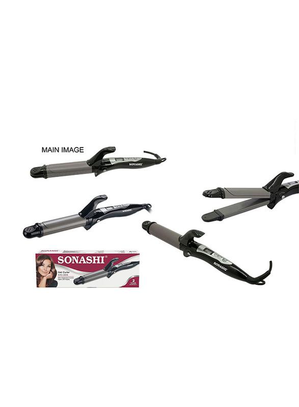 Sonashi 2 in 1 Hair Curler and Hair Straightener, 45W, SHC 3005, Pink/Black
