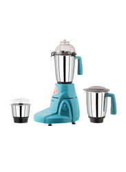 Sonashi 3 in 1 1.5L Mixer Grinder, with Pulse Switch Unbreakable Polycarbonate Jar Lids, 550W, SB 150 SS, Sky Blue
