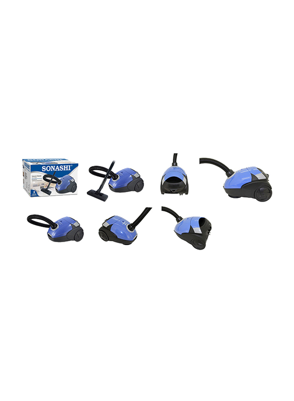 Sonashi Canister Vacuum Cleaner, 1200W, 1.5L, SVC 9024, Blue/Black