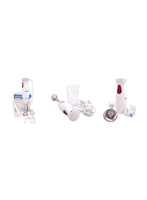 Sonashi Detachable Stainless Steel Shaft Hand Blender, 180, SHB 166, White