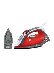 Sonashi Steam Iron, with Ceramic Soleplate, 2400W, SI 5067C, Red/White