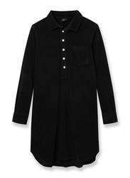 Nikben Terry Studio Long Sleeve Shirt for Men, Small, Black