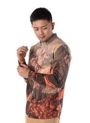 Dedicated Varberg Mountains Long Sleeves Shirt for Men, Medium, Multicolour