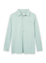 Nikben Jersey Studio Long Sleeve Polo Shirt for Men, Large, Light Green