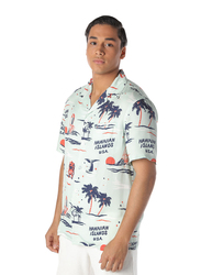 Nikben Big Kahuna Printed Short Sleeve Shirt for Men, Small, Multicolour