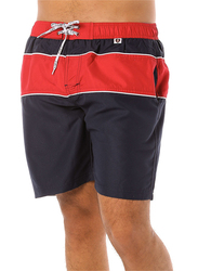 Scipo Globe Drawstring Shorts for Men, Triple Extra Large, Red