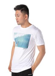 Dedicated Stockholm Lopez Short Sleeves T-Shirt for Men, Small, White