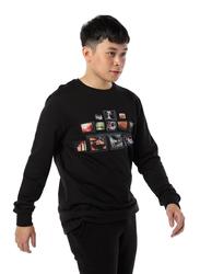 Criminal Damage TV Revolution Long Sleeves T-Shirt for Men, Small, Black