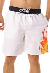 Scipo Scorch Drawstring Shorts for Men, Medium, White