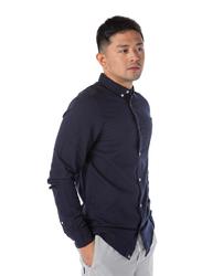 Dedicated Varberg Oxford Long Sleeves Shirt for Men, Extra Large, Navy Blue