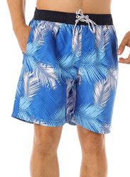 Scipo Tropics Drawstring Shorts for Men, Extra Large, Blue