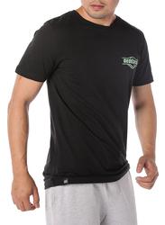 Dedicated Stockholm Good Hands Short Sleeves T-Shirt for Men, Medium, Black