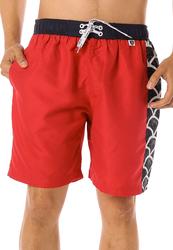 Scipo Curls Drawstring Shorts for Men, Medium, Red