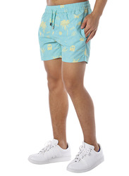 Nikben Trippin Drawstring Shorts for Men, Large, Aquamarine