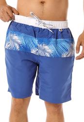 Scipo Palm Drawstring Shorts for Men, Medium, Blue