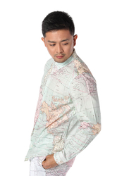 Dedicated Varberg Map Long Sleeves Shirt for Men, Medium, Multicolour