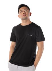 Dedicated Stockholm Dedicated Logo Short Sleeves T-Shirt for Men, Large, Black