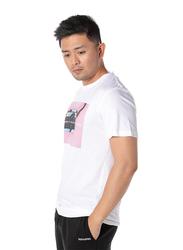Dedicated Stockholm The Art of Observation Short Sleeves T-Shirt for Men, Medium, White