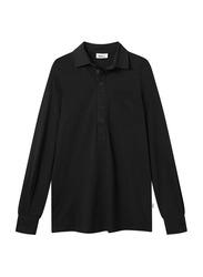 Nikben Jersey Studio Stockholm Long Sleeve Polo Shirt for Men, Medium, Black