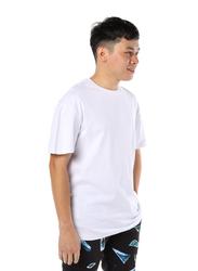 Criminal Damage Barb Emb Mock Short Sleeves T-Shirt for Men, Small, White