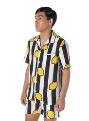 Nikben Limoncello Short Sleeve Shirt for Men, Small, Multicolour