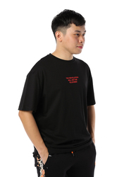 Criminal Damage TV Revolution Short Sleeves T-Shirt for Men, Small, Black