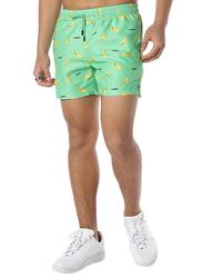 Nikben Go Bananas Drawstring Shorts for Men, Small, Green
