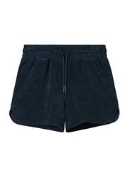 Nikben Terry Low Drawstring Shorts for Men, Medium, Navy Blue