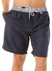 Scipo Sails Drawstring Shorts for Men, Double Extra Large, Navy Blue
