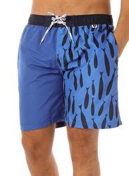 Scipo Pescado Drawstring Shorts for Men, Medium, Blue