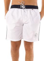Scipo Dive Drawstring Shorts for Men, Extra Large, White