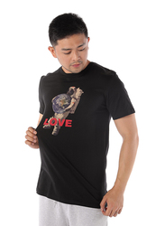 Dedicated Stockholm Astro Love Short Sleeves T-Shirt for Men, Large, Black
