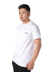 Dedicated Stockholm Dedicated Logo Short Sleeves T-Shirt for Men, Medium, White