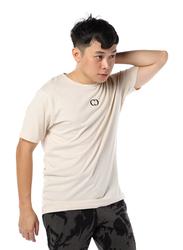 Criminal Damage Eco Sort Sleeves T-Shirt for Men, Extra Large, Light Brown