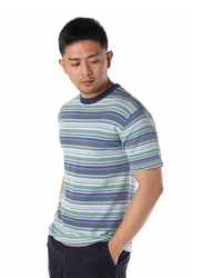 Dedicated Knitted Husum Stripe Short Sleeves T-Shirt for Men, Medium, Multicolour
