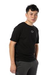 Criminal Damage Eco Sort Sleeves T-Shirt for Men, Extra Large, Black