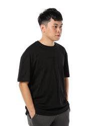 Criminal Damage Barb Emb Mock Short Sleeves T-Shirt for Men, Small, Black