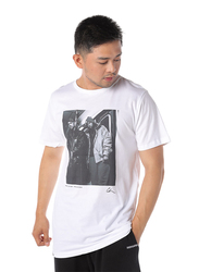 Dedicated Stockholm Gang Starr Short Sleeves T-Shirt for Men, Large, White