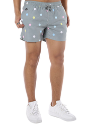 Nikben Mixed Dot Drawstring Shorts for Men, Medium, Grey