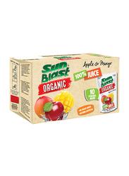 Sunblast Organic Apple & Mango Juice, 10 x 200ml