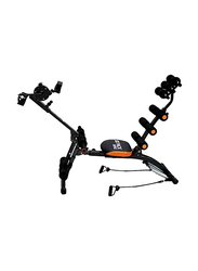 H Pro Six Pack Care Exercise Bench with Pedal, 9.36 KG, Black/Orange