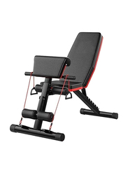 H Pro Adult Multi-Function Adjustable Weight Bench, Black/Red