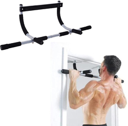 H Pro Iron Gym Pull Up Bar, Black
