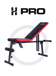 H Pro Adjustable Sit Up AB Incline Abs Bench, Black/Red