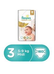 Pampers Premium Care Diapers, Size 3, Medium, 5-9 kg, Mega Box, 160 Count